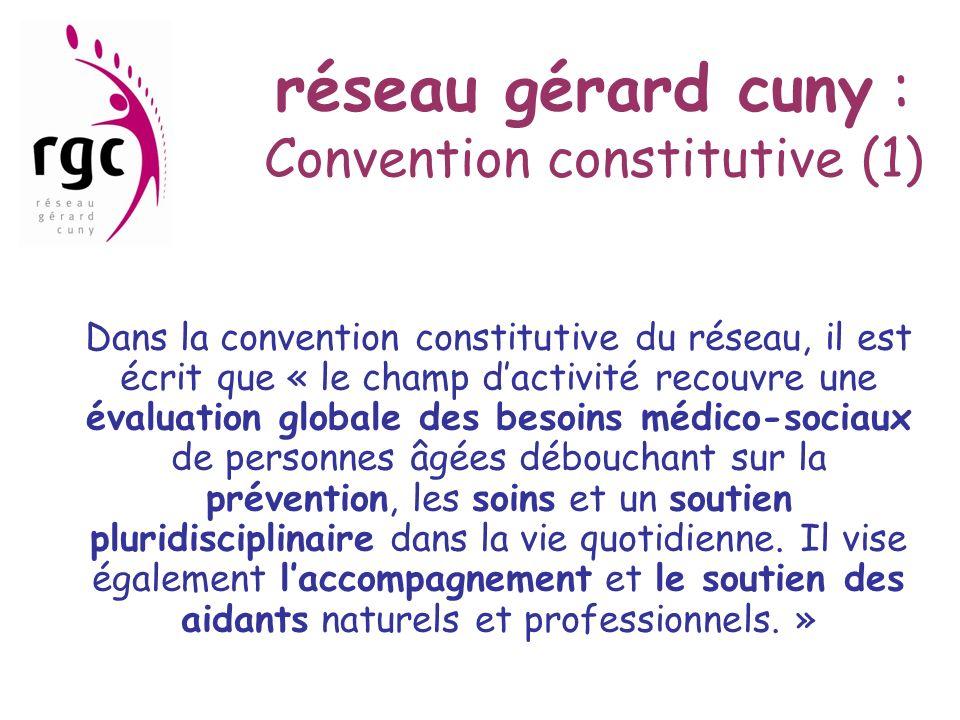 réseau gérard cuny : Convention constitutive (1)