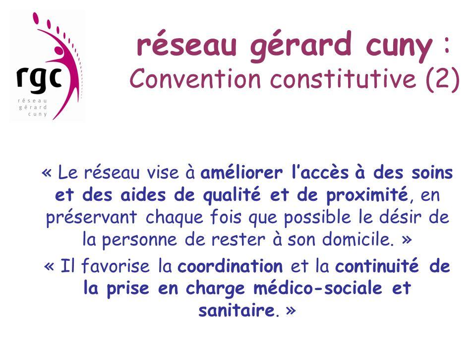 réseau gérard cuny : Convention constitutive (2)