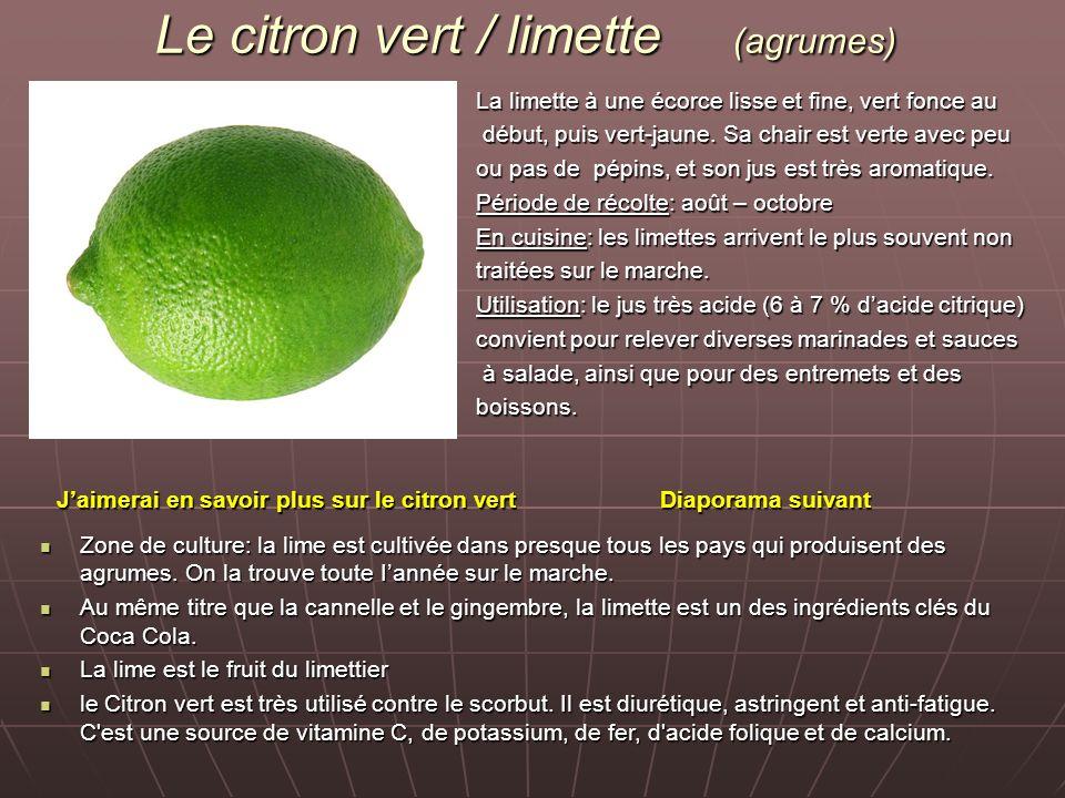 Le citron vert / limette (agrumes)