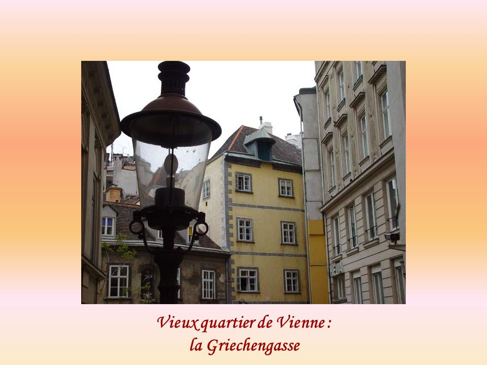 Vieux quartier de Vienne : la Griechengasse