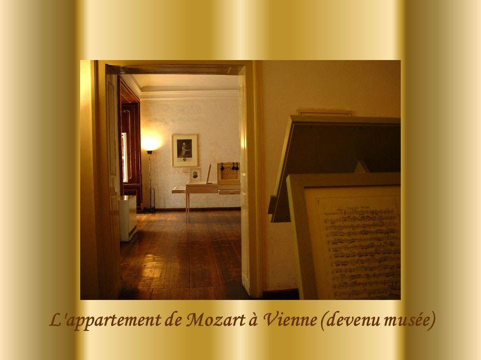 L appartement de Mozart à Vienne (devenu musée)