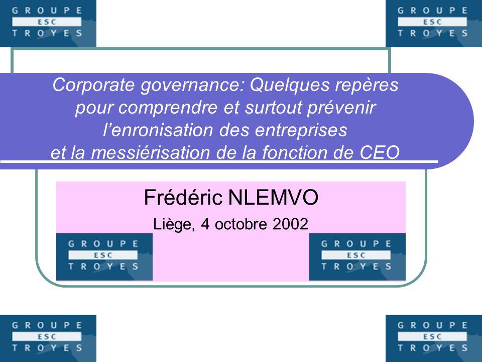 Frédéric NLEMVO Liège, 4 octobre 2002