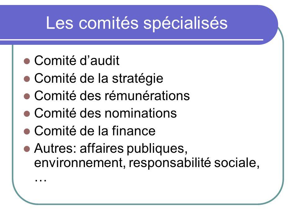 Les comités spécialisés