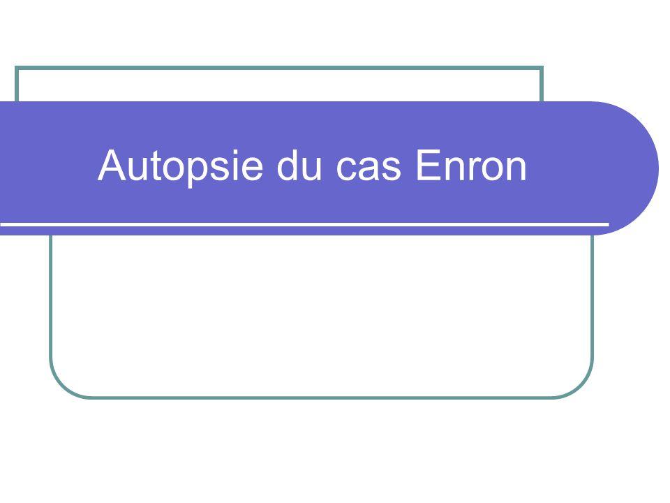 Autopsie du cas Enron
