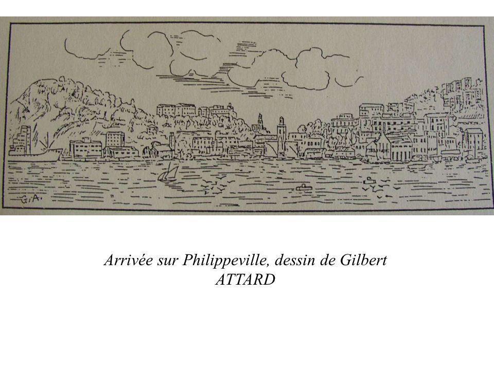 Arrivée sur Philippeville, dessin de Gilbert ATTARD