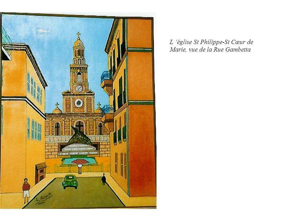 L 'église St Philippe-St Cœur de Marie, vue de la Rue Gambetta