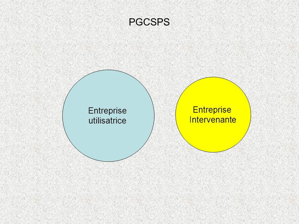 PGCSPS Entreprise utilisatrice Entreprise Intervenante