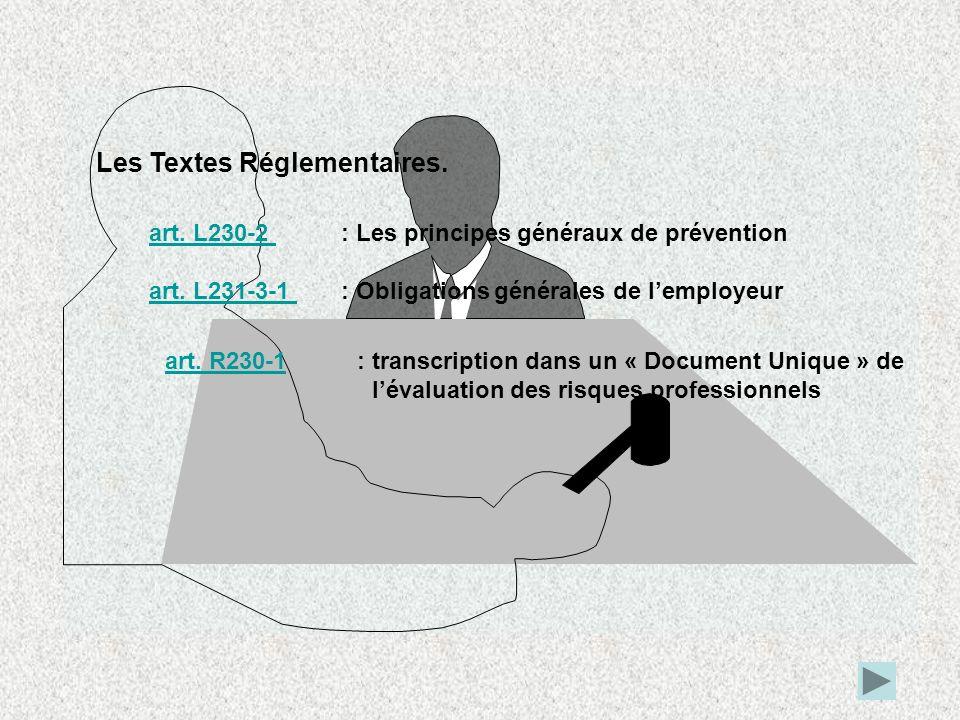 Les Textes Réglementaires.