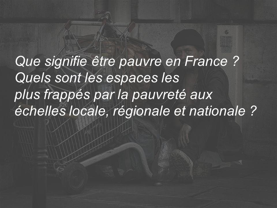 Que signifie être pauvre en France
