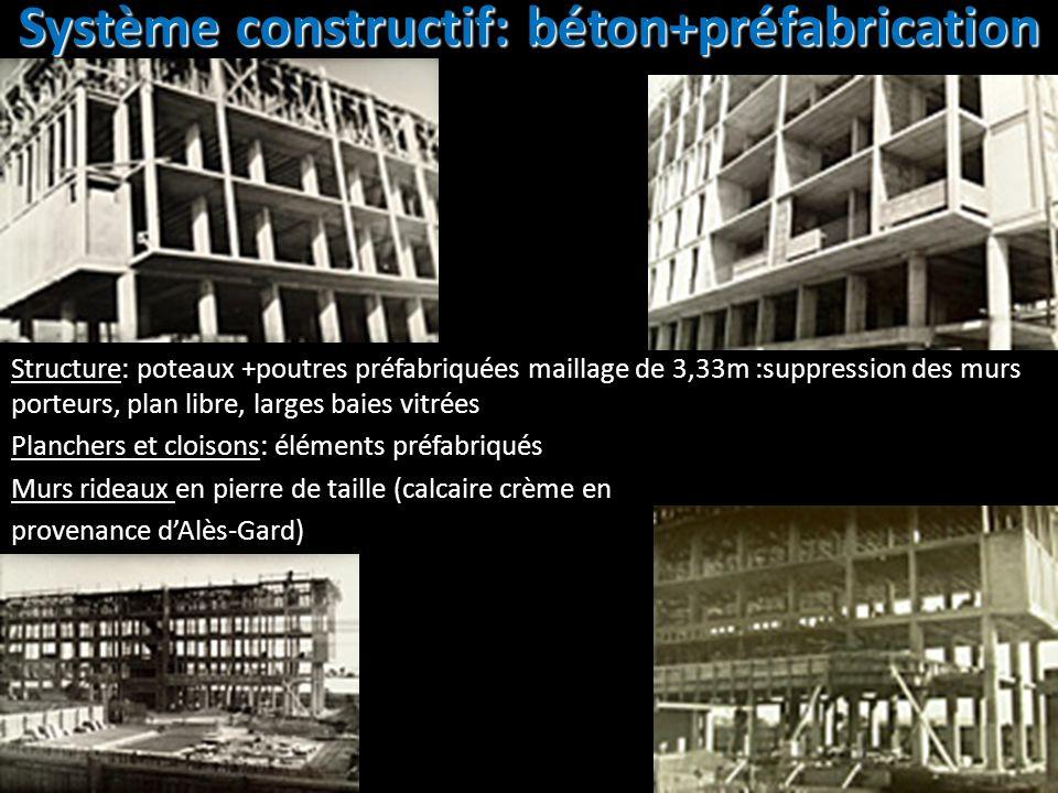Système constructif: béton+préfabrication
