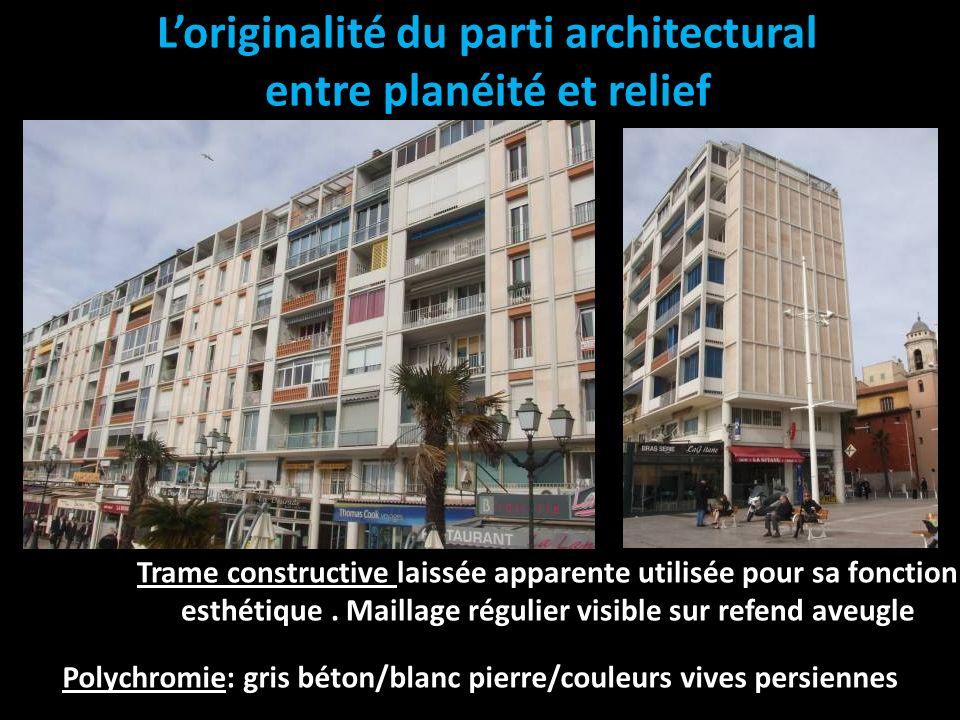 L'originalité du parti architectural entre planéité et relief