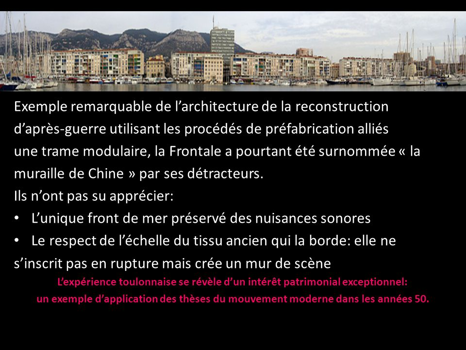 Exemple remarquable de l'architecture de la reconstruction