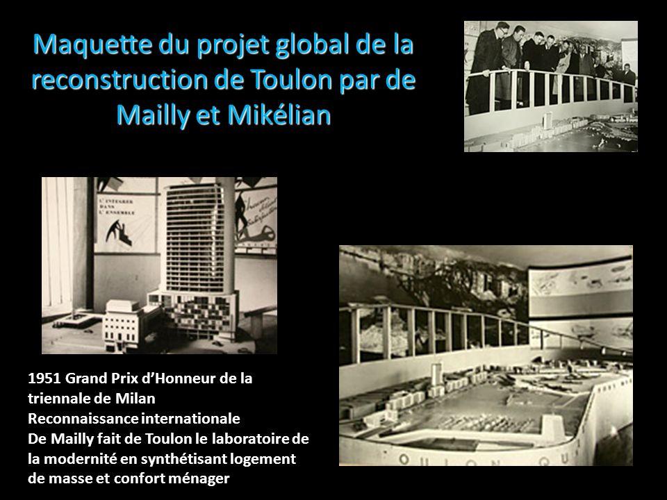 Maquette du projet global de la reconstruction de Toulon par de Mailly et Mikélian
