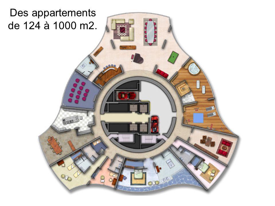 Des appartements de 124 à 1000 m2.