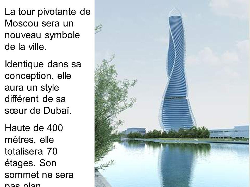 La tour pivotante de Moscou sera un nouveau symbole de la ville.