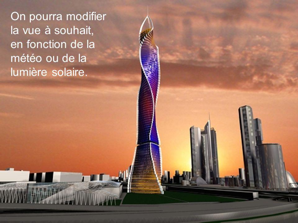 On pourra modifier la vue à souhait, en fonction de la météo ou de la lumière solaire.