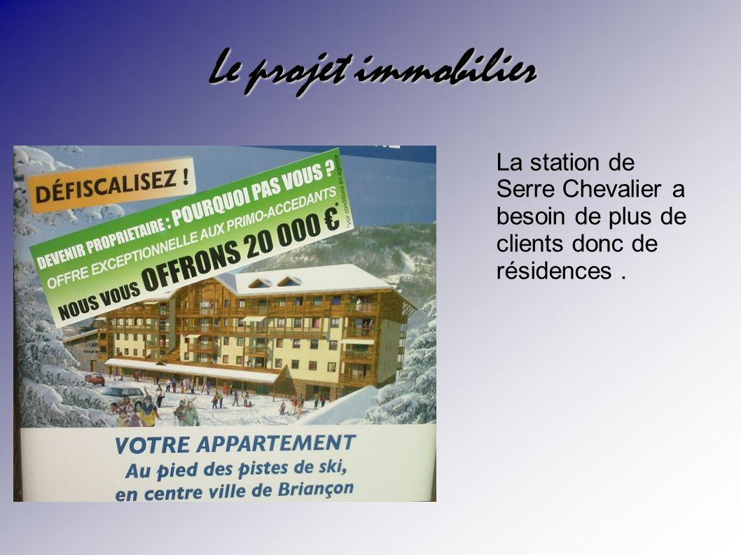 Le projet immobilier La station de Serre Chevalier a besoin de plus de clients donc de résidences .