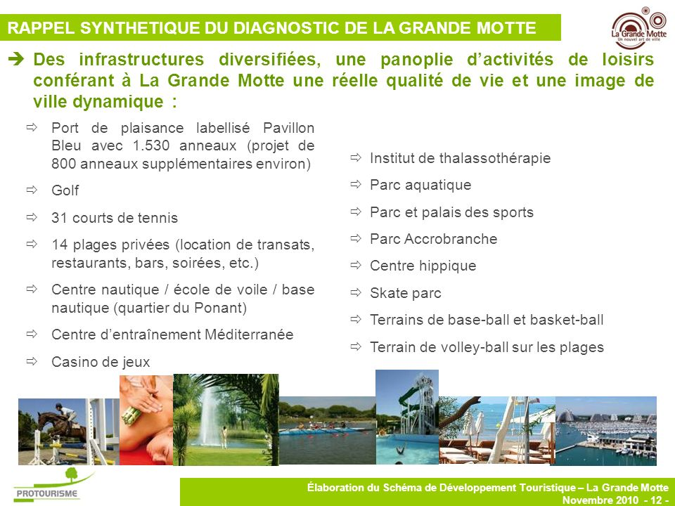 RAPPEL SYNTHETIQUE DU DIAGNOSTIC DE LA GRANDE MOTTE
