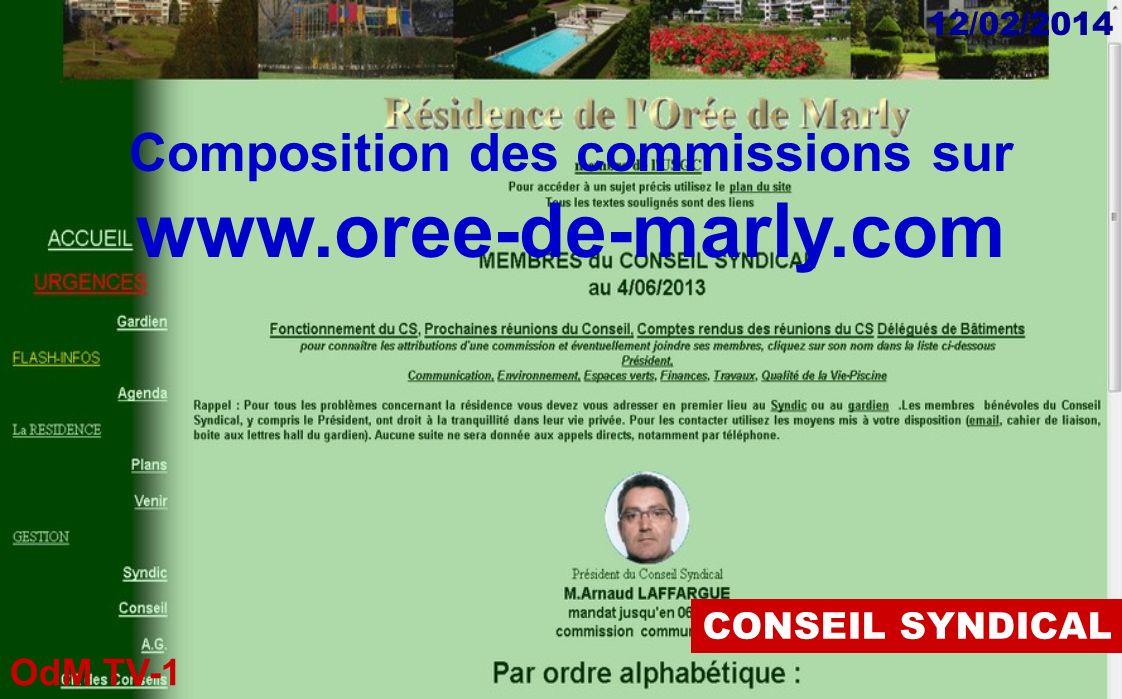 Composition des commissions sur www.oree-de-marly.com