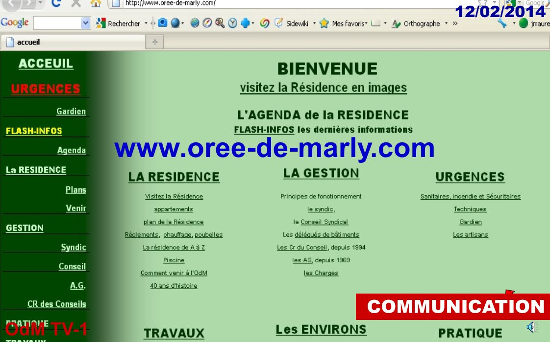 www.oree-de-marly.com COMMUNICATION