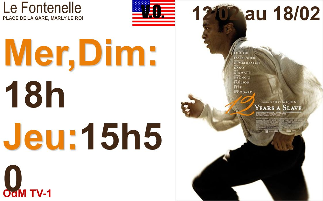 Mer,Dim:18h Jeu:15h50 Ven:14h,22h15 Mar:20h30 12/02 au 18/02 V.O.