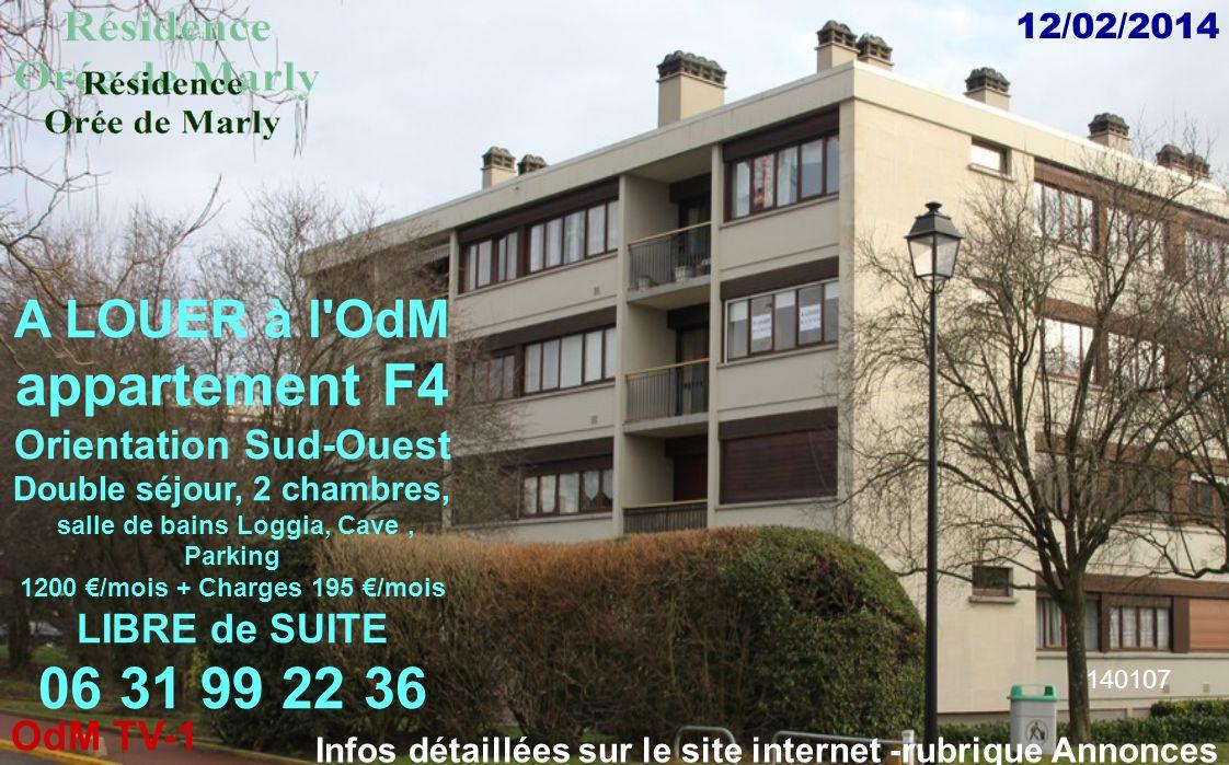 appartement F4 06 31 99 22 36 A LOUER à l OdM Orientation Sud-Ouest