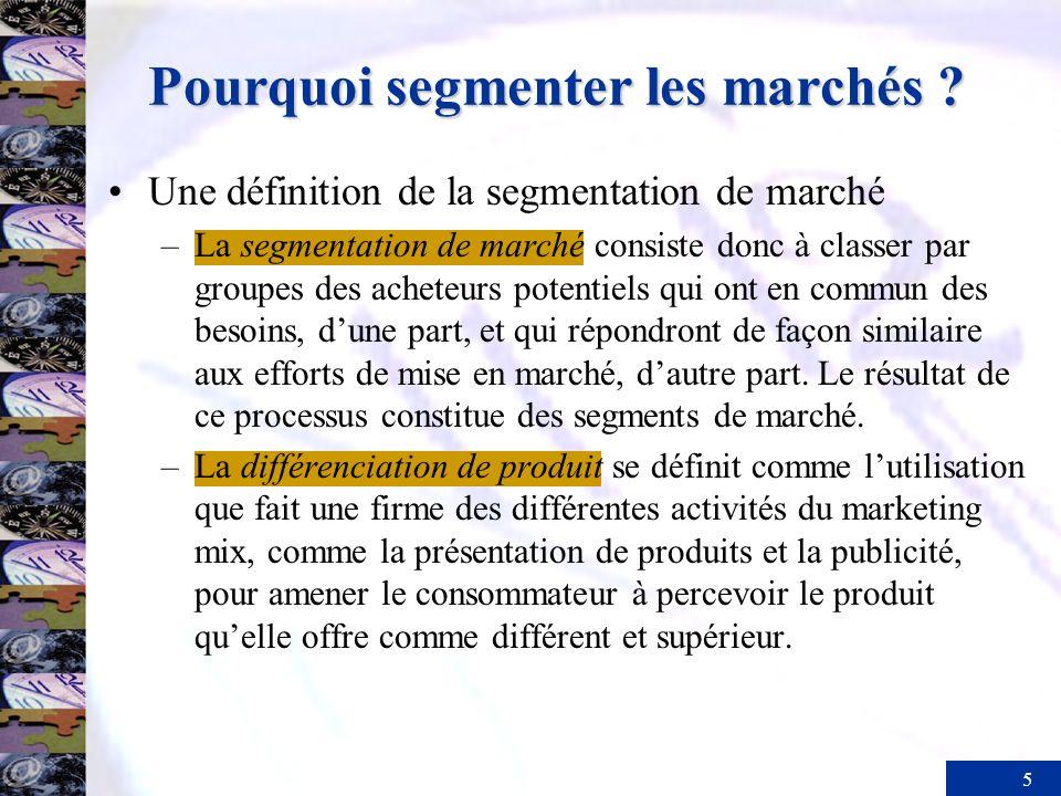 Pourquoi segmenter les marchés