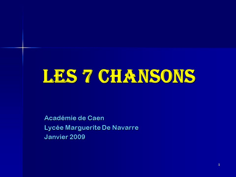 Académie de Caen Lycée Marguerite De Navarre Janvier 2009