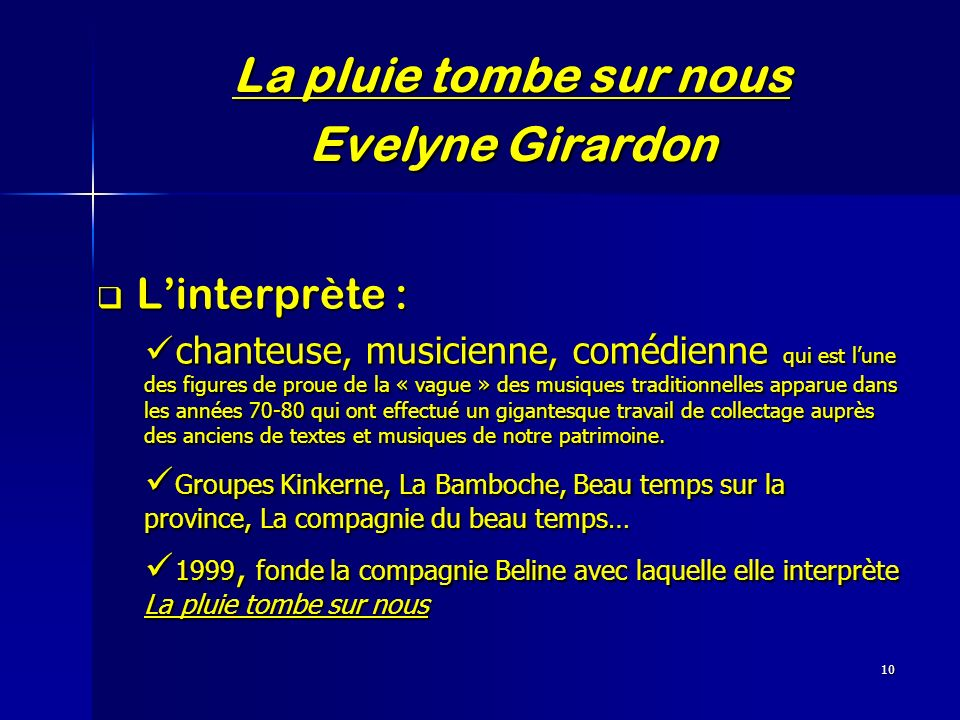 La pluie tombe sur nous Evelyne Girardon