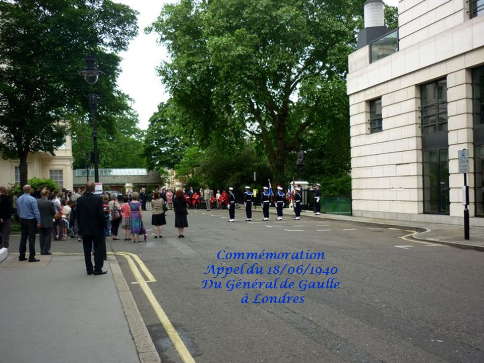 Commémoration Appel du 18/06/1940 Du Général de Gaulle à Londres