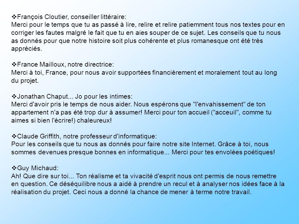 François Cloutier, conseiller littéraire:
