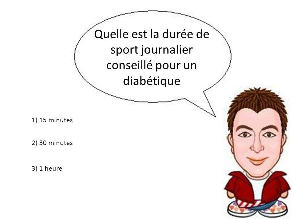 Quelle est la durée de sport journalier conseillé pour un diabétique