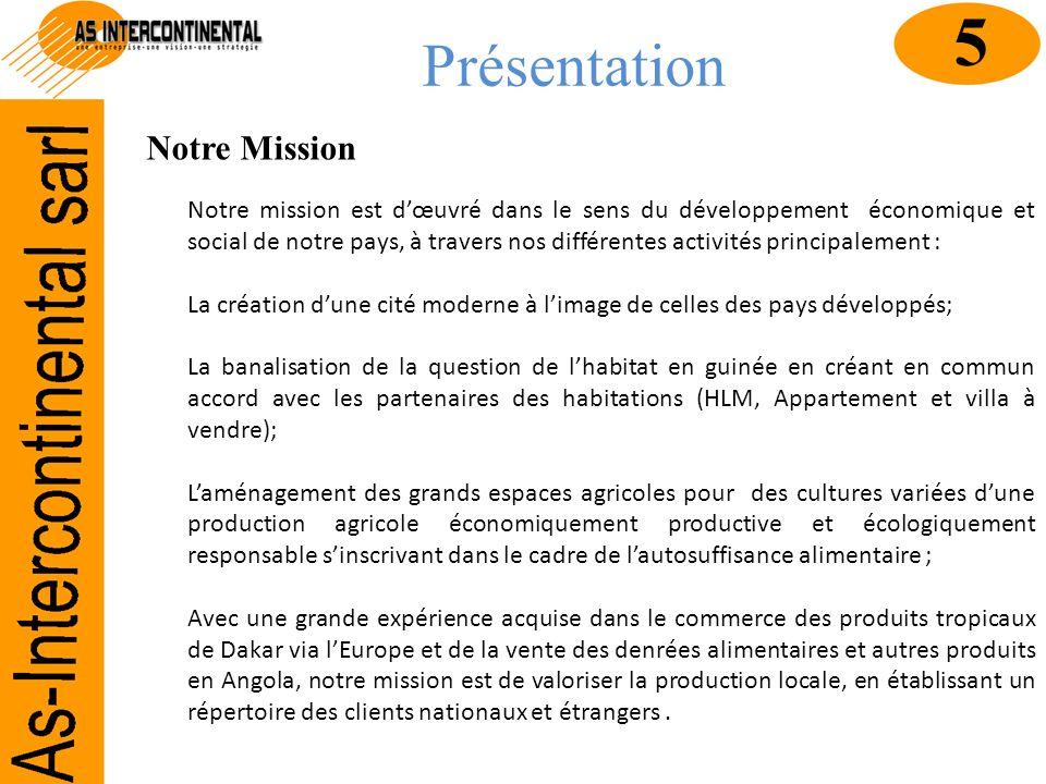 5 Présentation Notre Mission