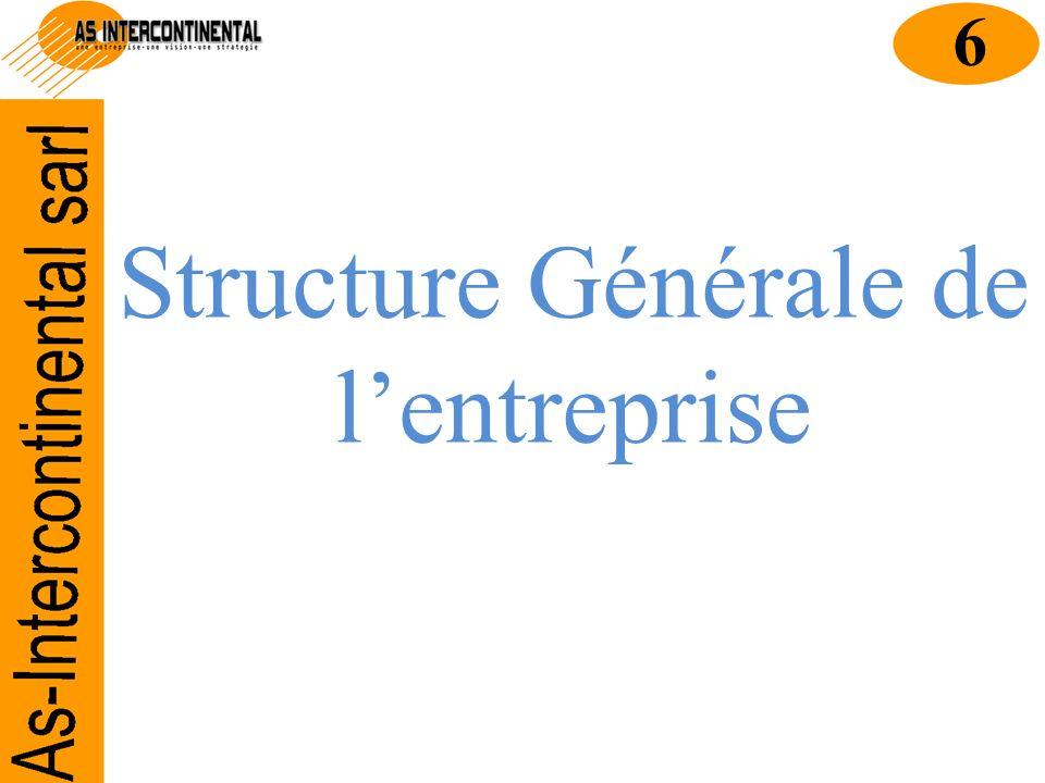Structure Générale de l'entreprise