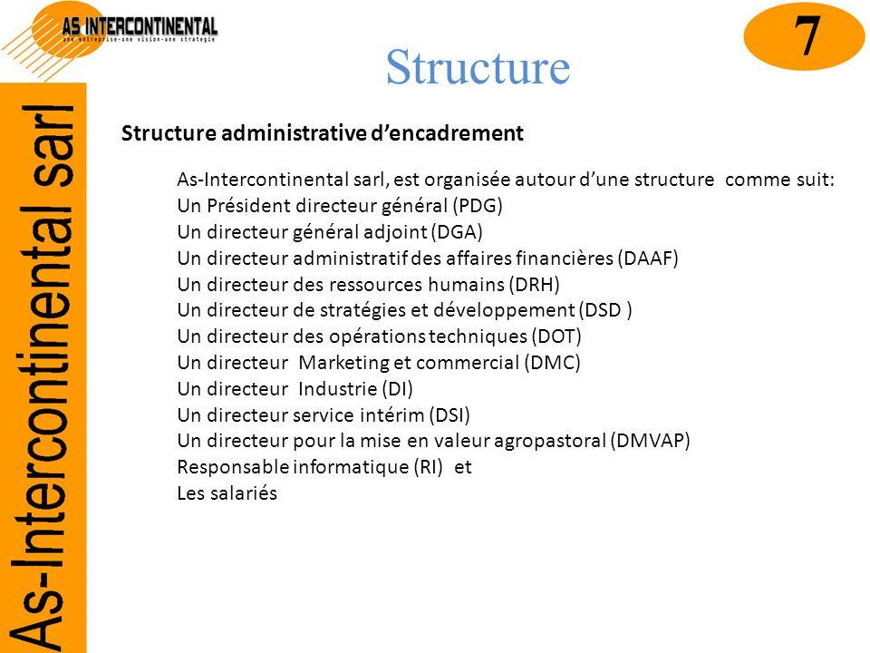 7 Structure Structure administrative d'encadrement