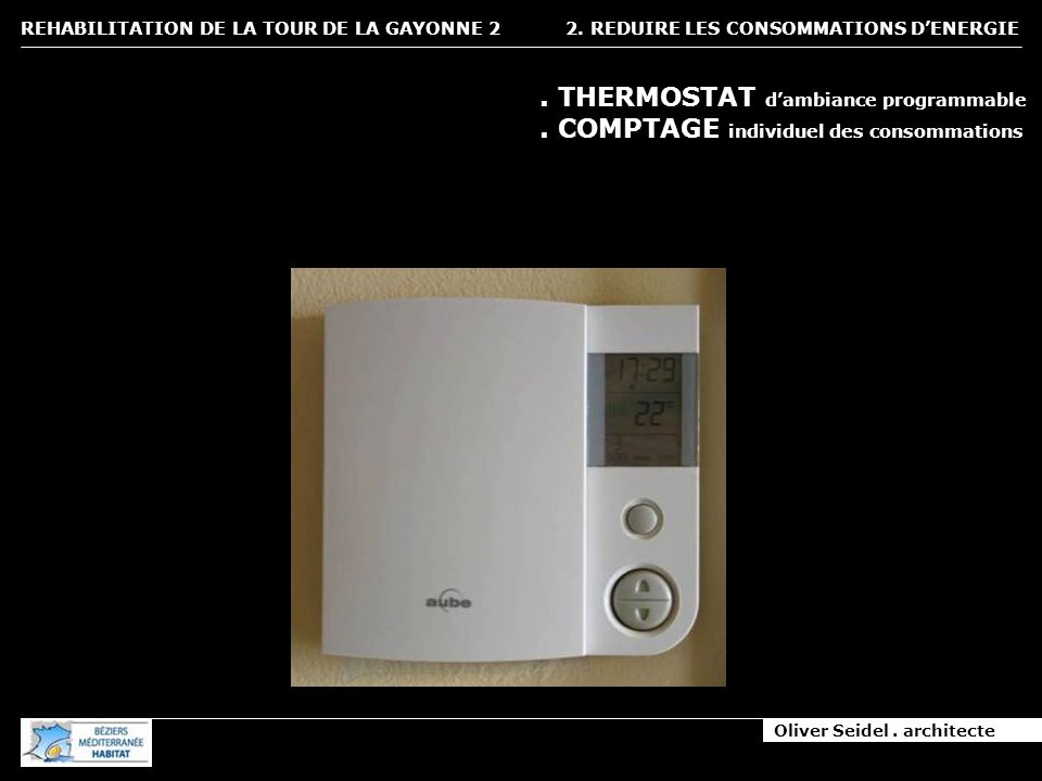 2. REDUIRE LES CONSOMMATIONS D'ENERGIE