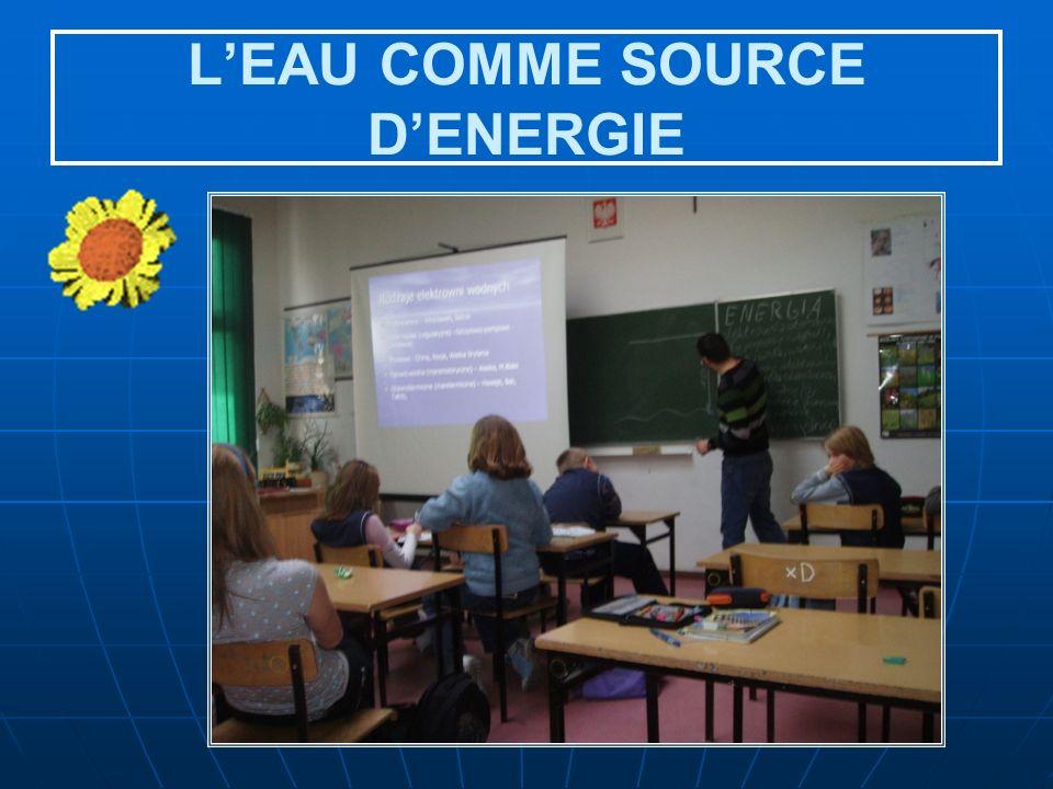 L'EAU COMME SOURCE D'ENERGIE
