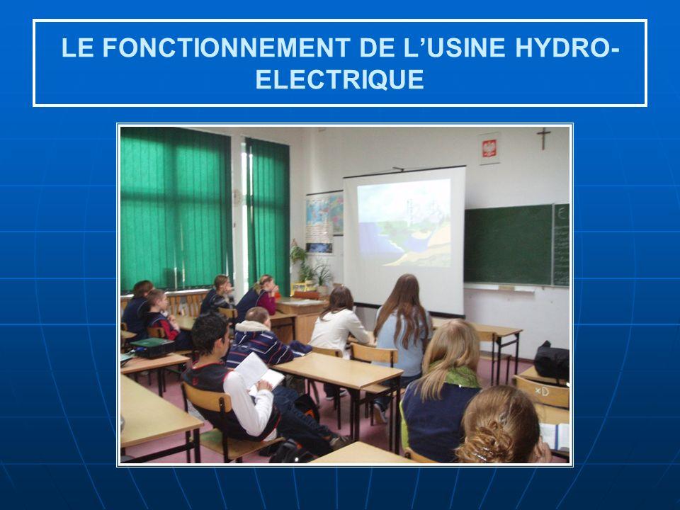 LE FONCTIONNEMENT DE L'USINE HYDRO-ELECTRIQUE