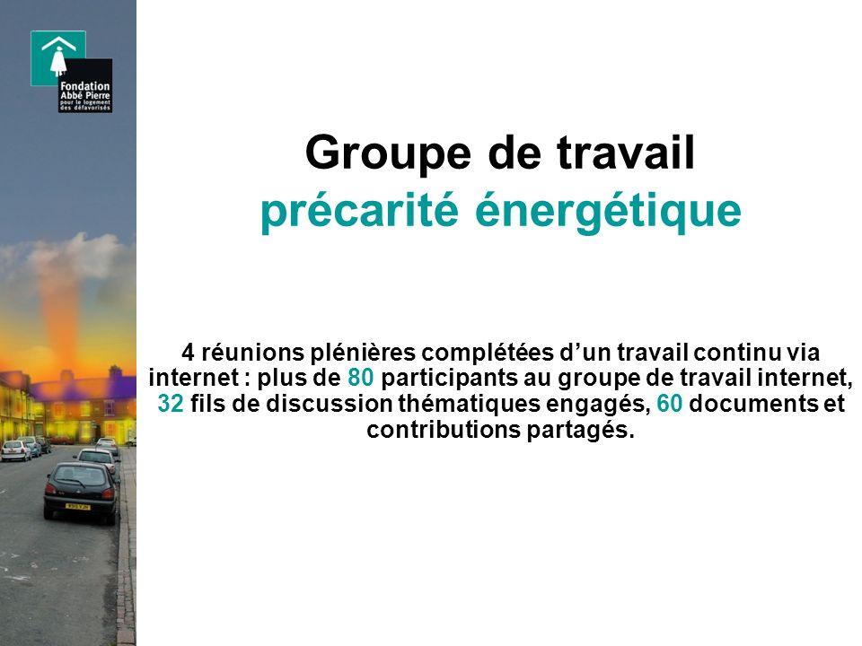 Groupe de travail précarité énergétique