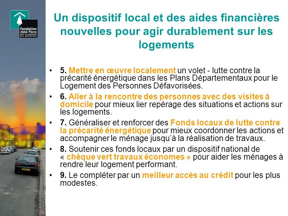 Un dispositif local et des aides financières nouvelles pour agir durablement sur les logements