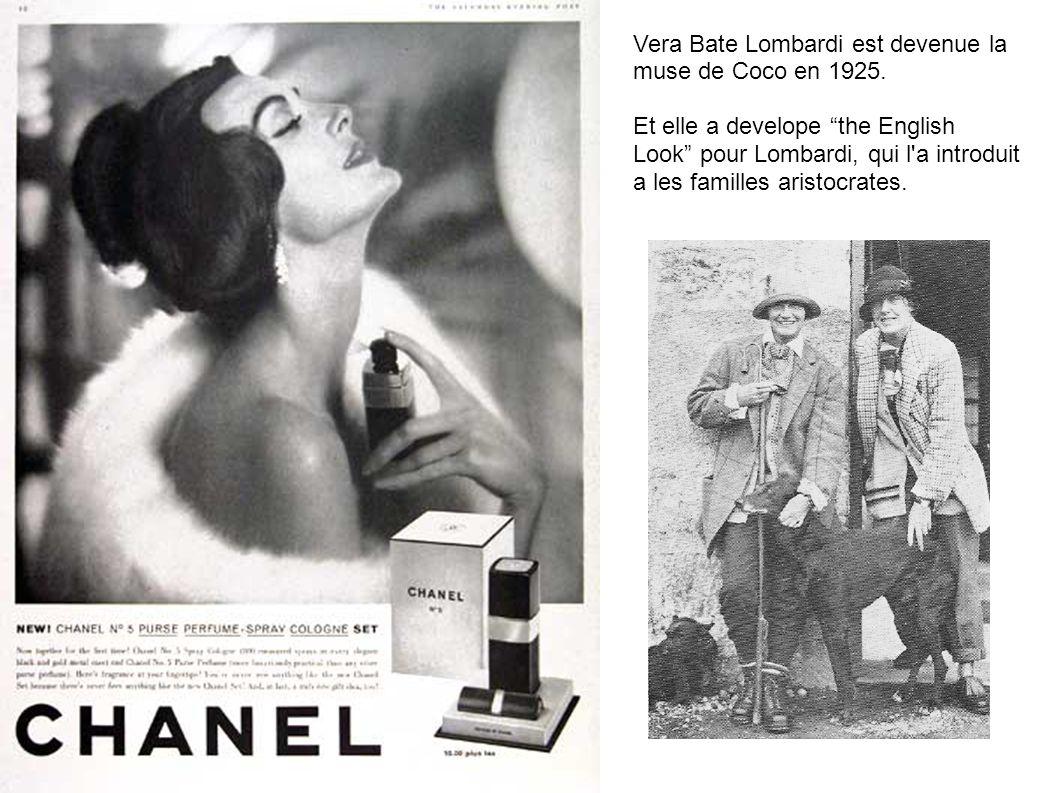 Vera Bate Lombardi est devenue la muse de Coco en 1925.
