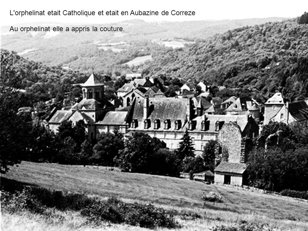 L orphelinat etait Catholique et etait en Aubazine de Correze