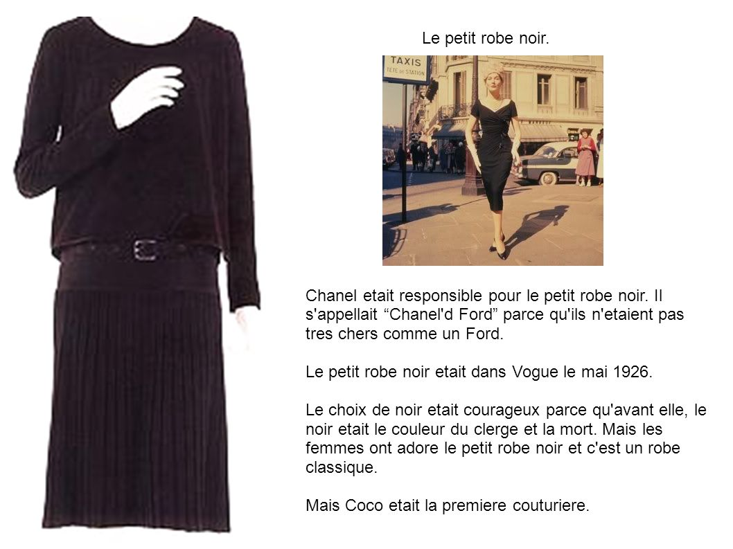 Le petit robe noir.