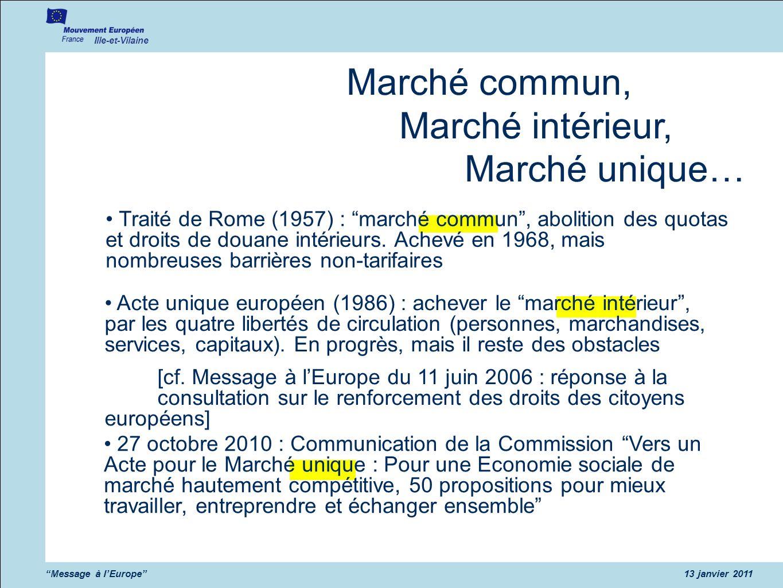 Marché commun, Marché intérieur, Marché unique…