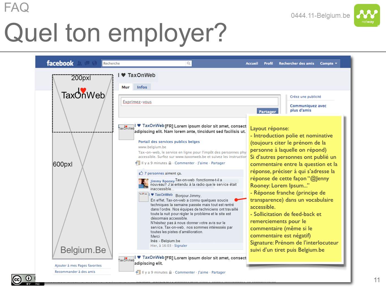 Quel ton employer FAQ I♥ TaxOnWeb Belgium.Be 0444.11-Belgium.be