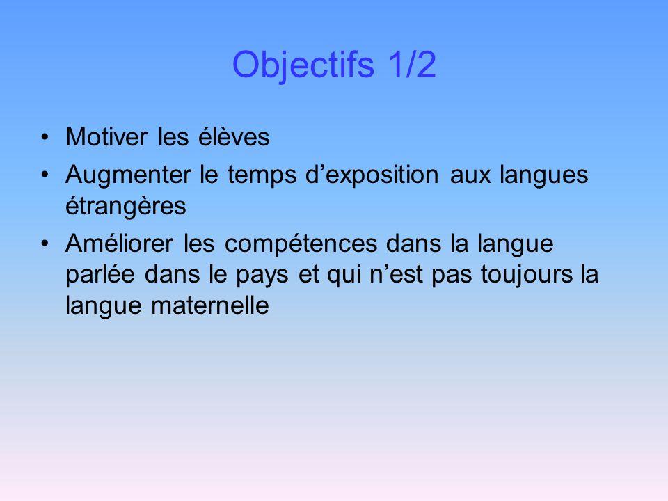 Objectifs 1/2 Motiver les élèves