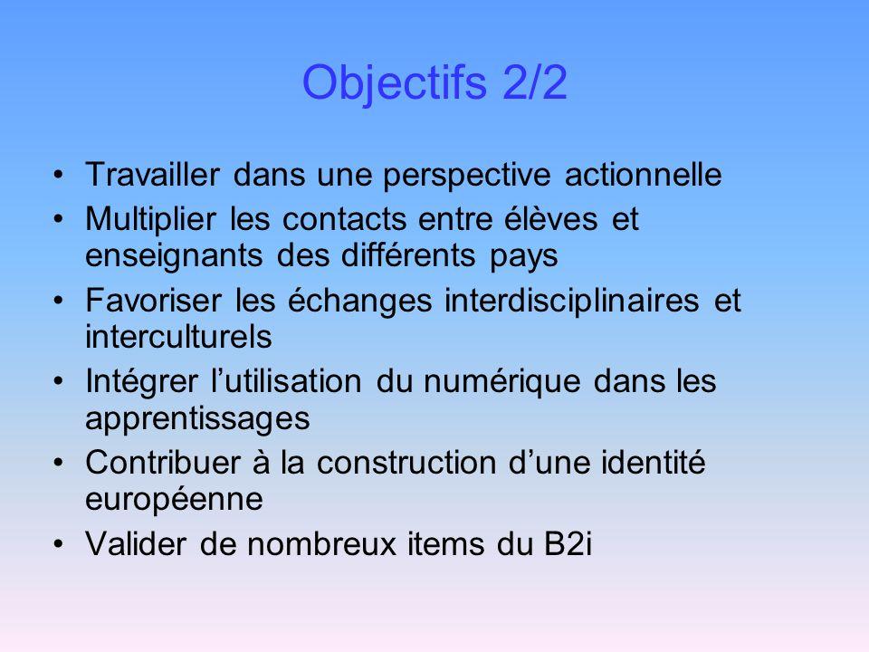 Objectifs 2/2 Travailler dans une perspective actionnelle