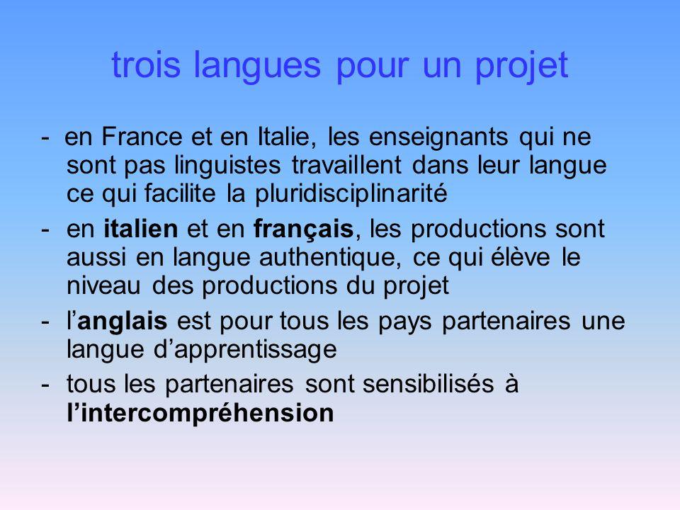 trois langues pour un projet