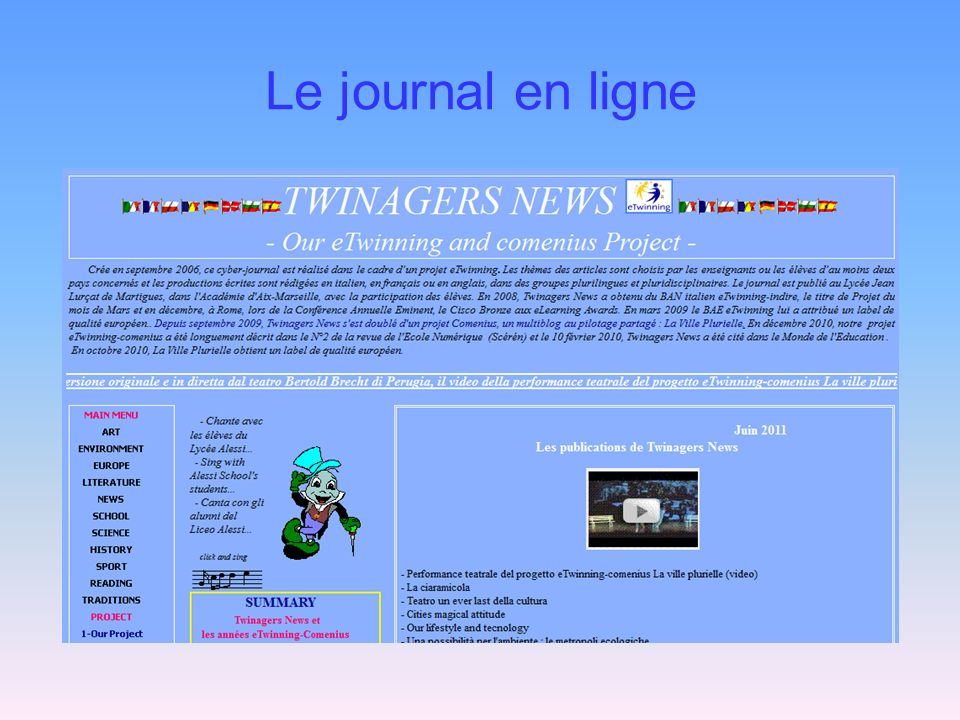 Le journal en ligne