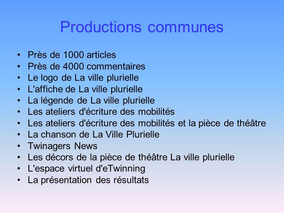 Productions communes Près de 1000 articles Près de 4000 commentaires